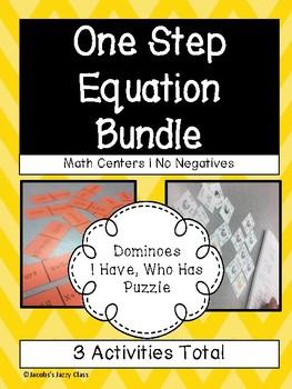One Step Equations Bundle | No Negatives