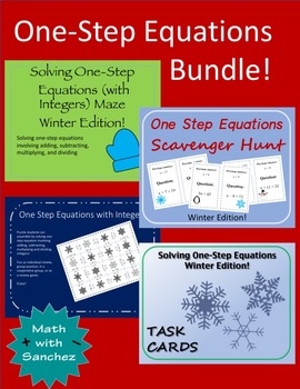 One-Step Equations Bundle - Winter Editions!