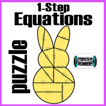 One-Step Equations Bunny Rabbit Easter Peeps Puzzle