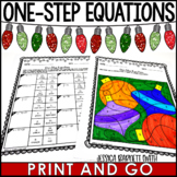 One-Step Equations Christmas Coloring Activity