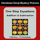 One Step Equations - Christmas EMOJI Color-By-Number Myste