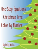 One-Step Equations Christmas Tree Color by Number