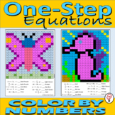 One Step Equations - Color by Numbers Worksheets