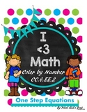One Step Equations Color by number