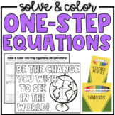 One-Step Equations (All Operations) | Solve & Color Math Activity