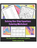 One-Step Equations Coloring Worksheet (Addition and Subtraction)