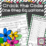 One Step Equations Crack the Code Activity