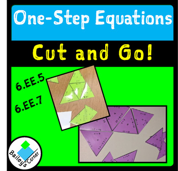 One-Step Equations Cut and Match Puzzle