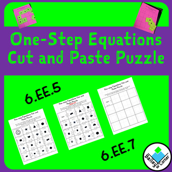 One-Step Equations Cut and Paste Puzzle