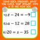 One-Step Equations Digital Task Cards