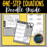 One-Step Equations Doodle Guide; Algebra 1