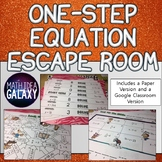 One Step Equations and Inequalities Escape Room
