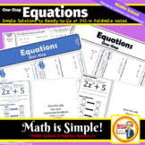One-Step Equations Foldable Notes