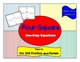 One Step Equations Four-Square