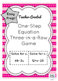 One-Step Equations Game