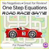 End of Year Math Activity One Step Equations Game Road Race