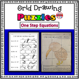 One Step Equation Activity: Grid Drawing Math Worksheets