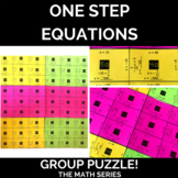 One Step Equations Puzzle (for groups)