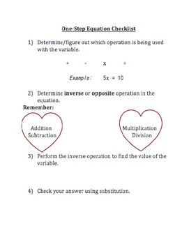 One-Step Equations Guide