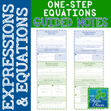 One Step Equations Notes