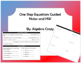 One Step Equations Guided Notes and HW