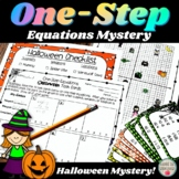 One-Step Equations Halloween Task Cards Mystery Activity