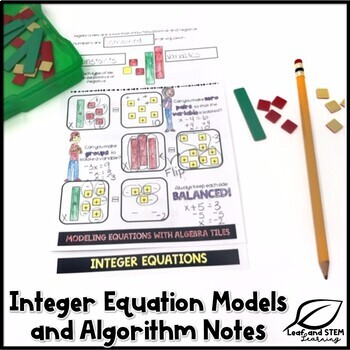 One-Step Equations Interactive Notebook Set