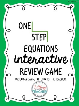 One Step Equations Interactive Review Game