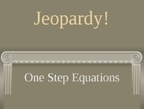 One Step Equations Jeopardy