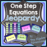 One Step Equations Activities {Jeopardy} {Solving One Step Equations Activity}