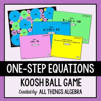 One-Step Equations Koosh Ball Game