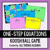 One-Step Equations Koosh Ball Game