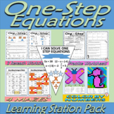 One Step Equations - Learning Stations - Resource Pack