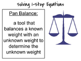 One Step Equations Lesson and Student Booklet