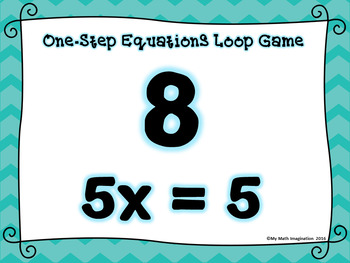 One-Step Equations Loop Game - No Integers    ~ FREE!!! ~