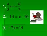 One Step Equations MATHO