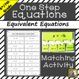 One Step Equations Activity