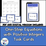 One-Step Equations with Positive Integers Task Cards