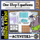 One Step Equations Math Activities Puzzles and Riddle