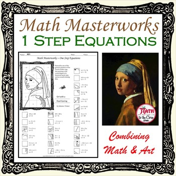 One Step Equations - Math Masterworks Coloring