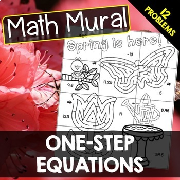 One Step Equations - Math Mural