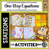 One Step Equations Math Stations