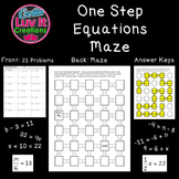 Equations One Step Equations Activity Includes Negatives Maze Solving Equations