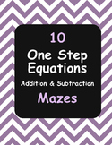 One Step Equations Maze