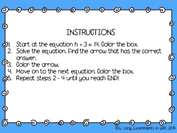 One-Step Equations Maze