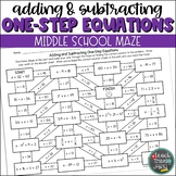One-Step Equations Maze | Addition and Subtraction