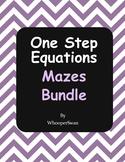One Step Equations Maze Bundle