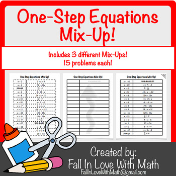 One-Step Equations Mix-Up!