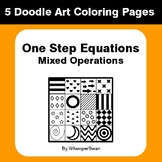 One Step Equations: Mixed Operations - Coloring Pages | Do