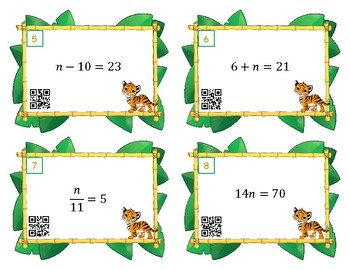 One Step Equations Mixed Operations Scoot or Task Cards